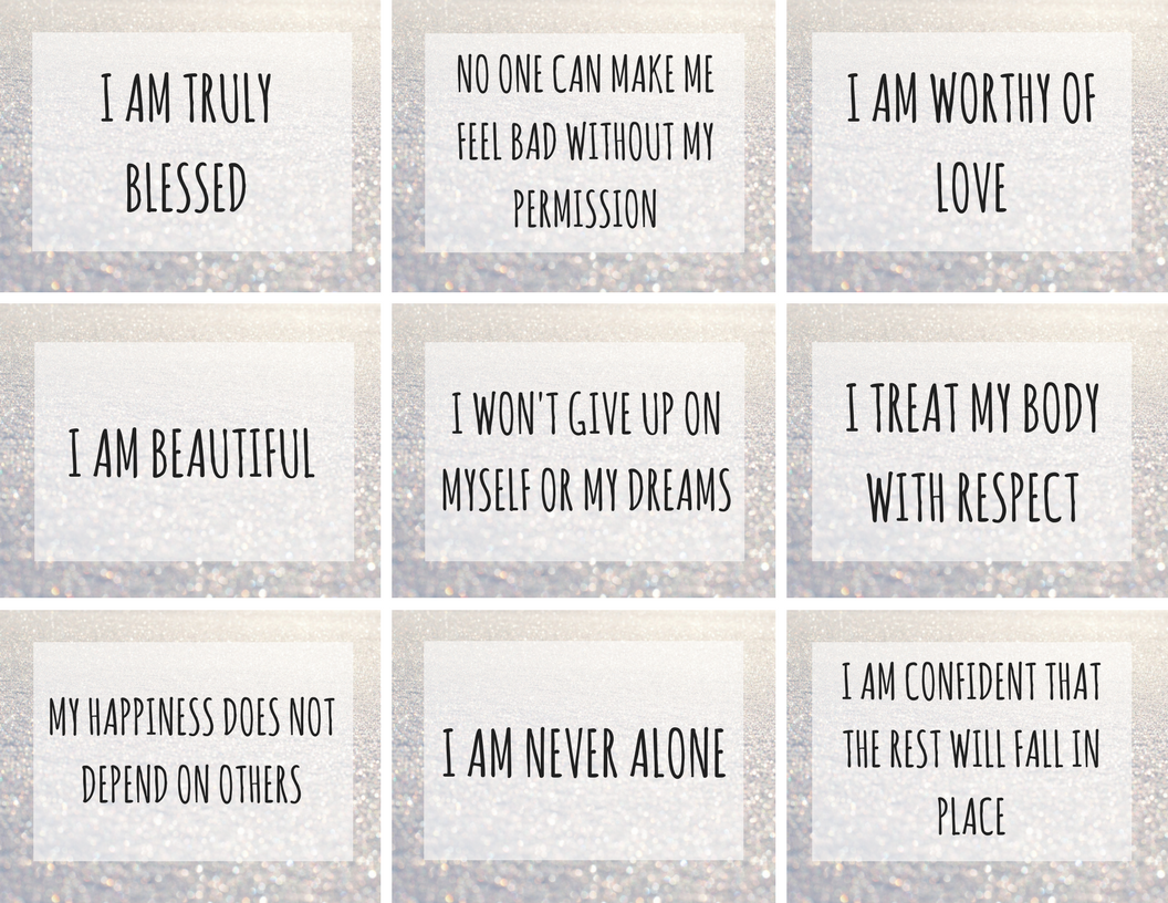 Nerdy image for affirmation cards printable
